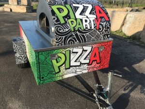 Wood Fired Pizza Oven Portable 8 ft Trailer